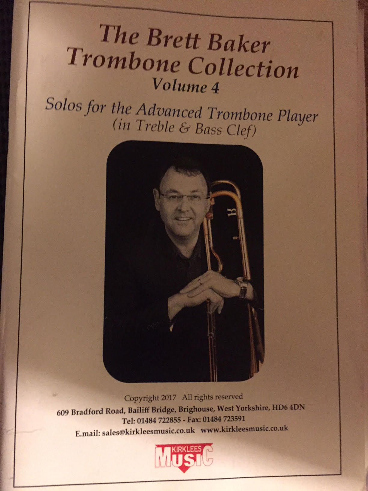 Sheet Music - The Brett Baker Trombone Collection Vol. 4